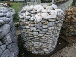 Otoczak dekoracyjny White Silver Flat Kamień do Ogrodu