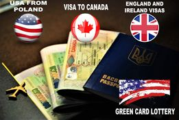 Віза в Канаду, Віза в США, Green Card, Візи в Англію та Ірландію