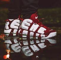 Лучшая цена! Nike x Supreme Uptempo ТОП кроссовки jordan reebok баскет
