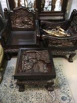 Продам антикварные кресла стол комплект столик массив резьба диван