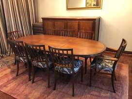 Dining room table, imbuia solid wood