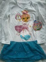 Новая ночная рубашка Lalaloopsy для девочки 6 лет, мягкая и приятная.