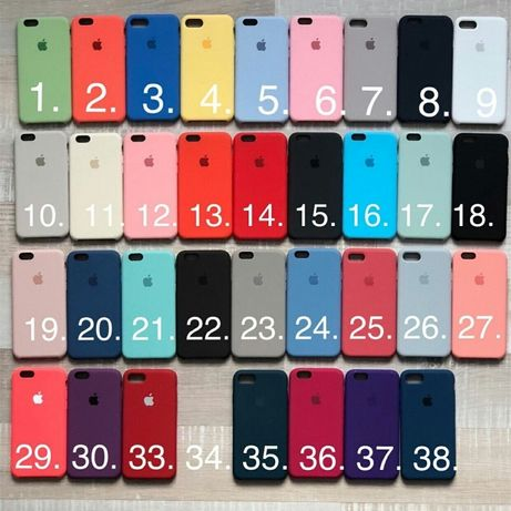 Чехол чохол айфон silicone case iphone 5 6 6+ 7 7+ 8 8+ X XS Max plus Львов - изображение 4