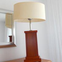 komplet lamp z abażurem wisząca i stołowa nocna