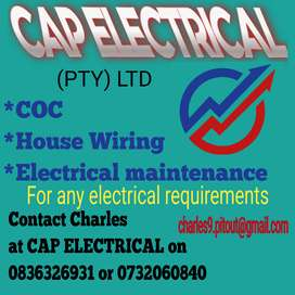 Any electrical work,electrical maintenace,house wiring