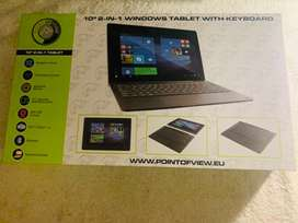 10,1 inch tablet with key board - new