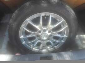 185/65R14 Continental Ecocontact 82H & Silver Rim