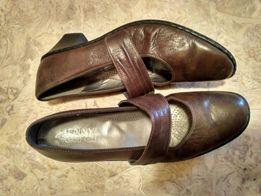 Кожаные женские туфли 41