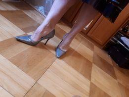Pantofle damskie, River Island, skóra naturalna, rozm. 39