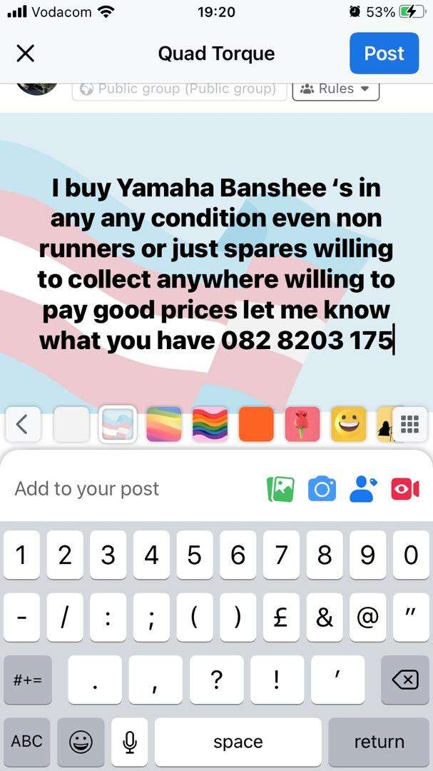 I buy banshee 350 's in any condition even non runners