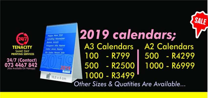 Custom printed 2019 Calendars   Diaries and Other Promotional Items 0