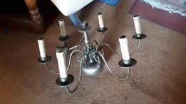 Немецкая бронзовая антикварная люстра, 8 свечей