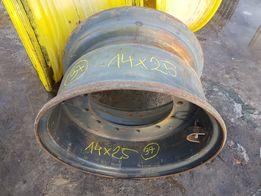 Felga przemysłowa 14x25 17.5-25 17.5r25 piasta 37cm