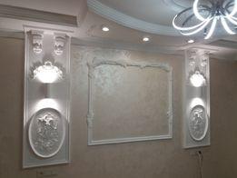 Монтаж потолков из гипсокартона,декоративные работы.