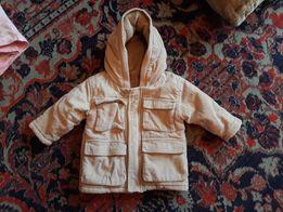 Демисезонная утепленная куртка 9-12 мес