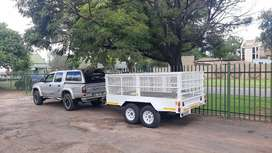 TOYOTA Hilux - 3.0 KZ-TE and Double axle 3 tonne trailer