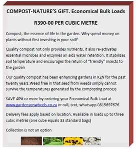 COMPOST A  GRADE-ECONOMICAL BULK LOADS-WE KEEP GARDENING AFFORDABLE