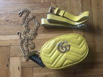 Torebki- nerka Gucci, kolor żółto- musztardowy