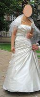 Przepiękna, wyjątkowa, oryginalna suknia ślubna, r. 36-38, ecru