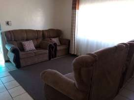 2×1 seater couches and 2×2 seater couches brown in colour used