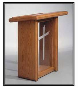 Special Cheap Wood & Acrylic Podium Stands