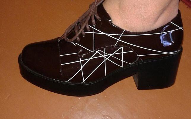 Модные лаковые ботинки Винница - изображение 1