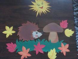 Jez grzybek jesień dekoracja do przedszkola