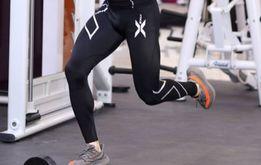 Компрессионные мужские лосины для фитнеса спорта 2XU трико штаны
