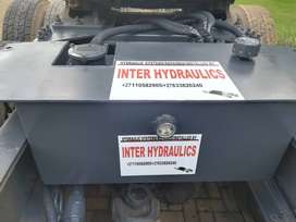 TRUCK HYDRAULIC TANKS, REAR MOUNT, SIDE MOUNT, IN-CHASSIS MOUNT