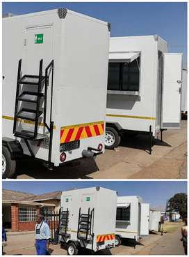 Mobile toilets for sale. And mobile fridge.