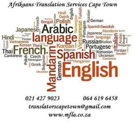 Sworn Afrikaans Translation Services in Cape Town