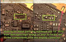 looking for macbook pro logic board components or tech