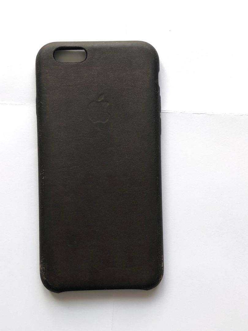 Brown Apple leather case for Iphone 6 0