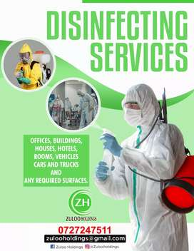 Disinfecting and sanitizing services
