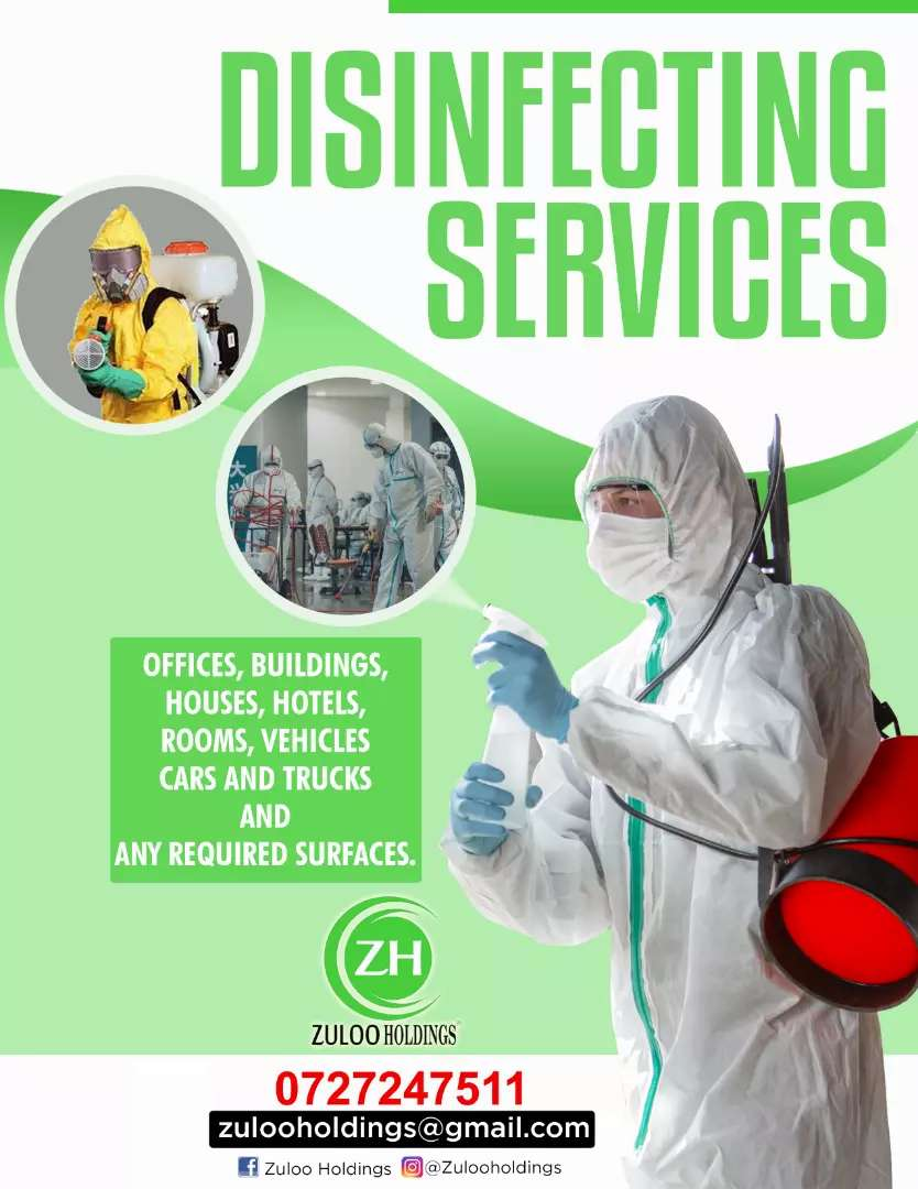 Disinfecting and sanitizing services 0