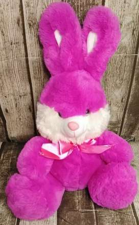 Paw Prints Super Soft Imported Fluffy Purple Bunny