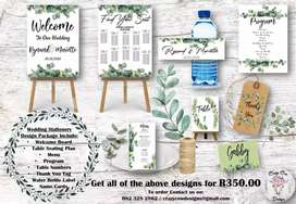 Wedding Stationery Design Package Deal