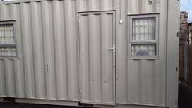 Steel office container 6M Split unit fully insulated