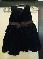 Нарядное бархатное платье на 2-3 года