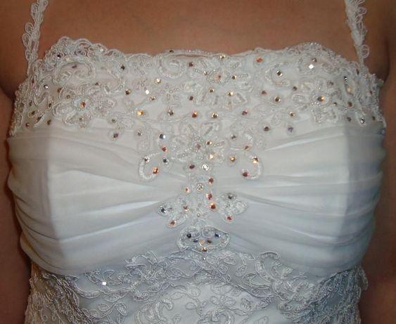 Sprzedam śliczną suknię ślubną z koronki. Przeworsk - image 2