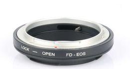 Адаптер переходник Canon FD - Canon EOS EF. С линзой и без.