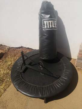 Punching bag and trampoline for sale