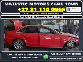 Audi A4 2.0 TDI Automatic Diesel CGL 2015 used spare parts for sale.