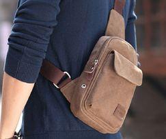 Слинг, мужская сумка через/на одно плечо, мини рюкзак однолямочный.