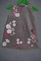 Welurowa sukienka 86cm