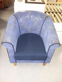 Image of Blue Tub chair