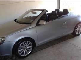 Silver VW Eos 2007 model, convertible