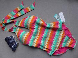 SEAFOLLY 36 S 34 XS kostium pływacki kąpielowy plażowy retro speedo