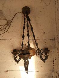 Stary żyrandol, Mosiężny, Przedwojenny