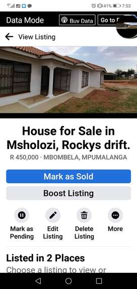 Spacious house for sale in Msholozi ( rockys drift)